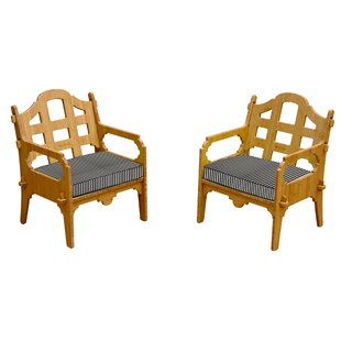 Loon Peak Burliegh Patio Chair with Cushions (Set of 2)