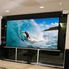 Evanesce TabTension Series White Electric Projection Screen