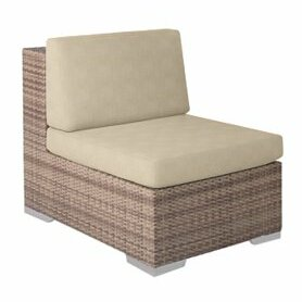 Arzo Sectional Piece Patio Chair with Cushions