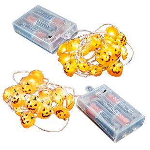 LumaBase Battery Operated 20 Light Fairy String Lights with Timer (Set of 2)