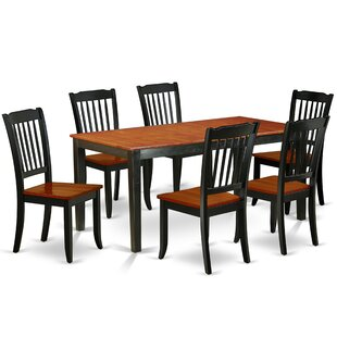 Laga 7 Piece Extendable Solid Wood Dining Set