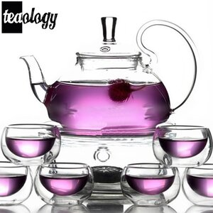 Teaology 8 Piece Borosilicate Blooming Tea Set