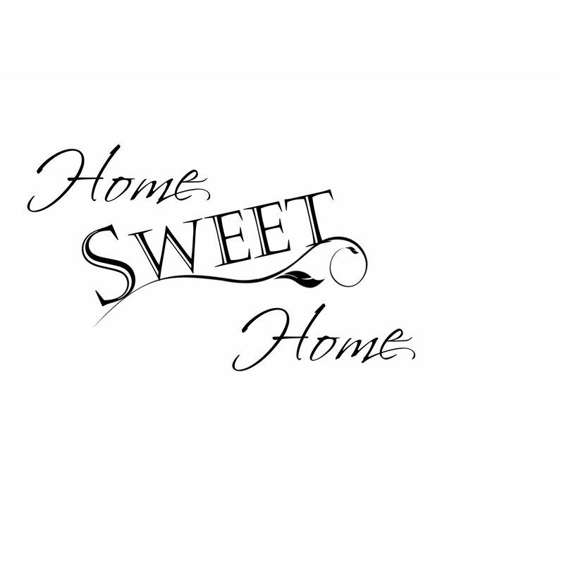 Home Sweet Home Vinyl Decal Sticker 22 W x 4.5 H White