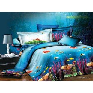 Coral 3D 4 Piece Sheet Set ByHomechoice International Group