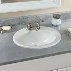 Ceramic Oval Drop-In Bathroom Sink with Overflow Toto