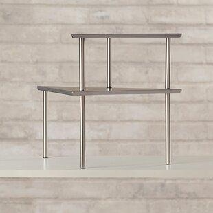 Wrought Studio Fincastle 2 Piece Stainless Steel Corner Storage Shelf Set