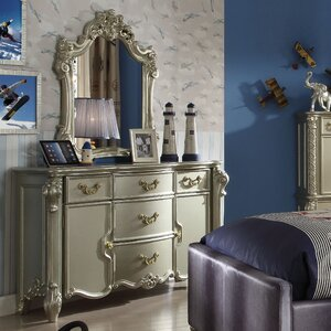 Welty 5 Drawer Dresser with Mirror by Astoria Grand