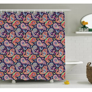 Accrington Geometrical and Floral Decor Single Shower Curtain