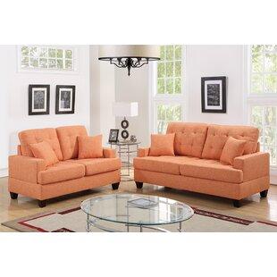 Logan Modern Style Chocolate Sofa Living Room Set with Chair ...
