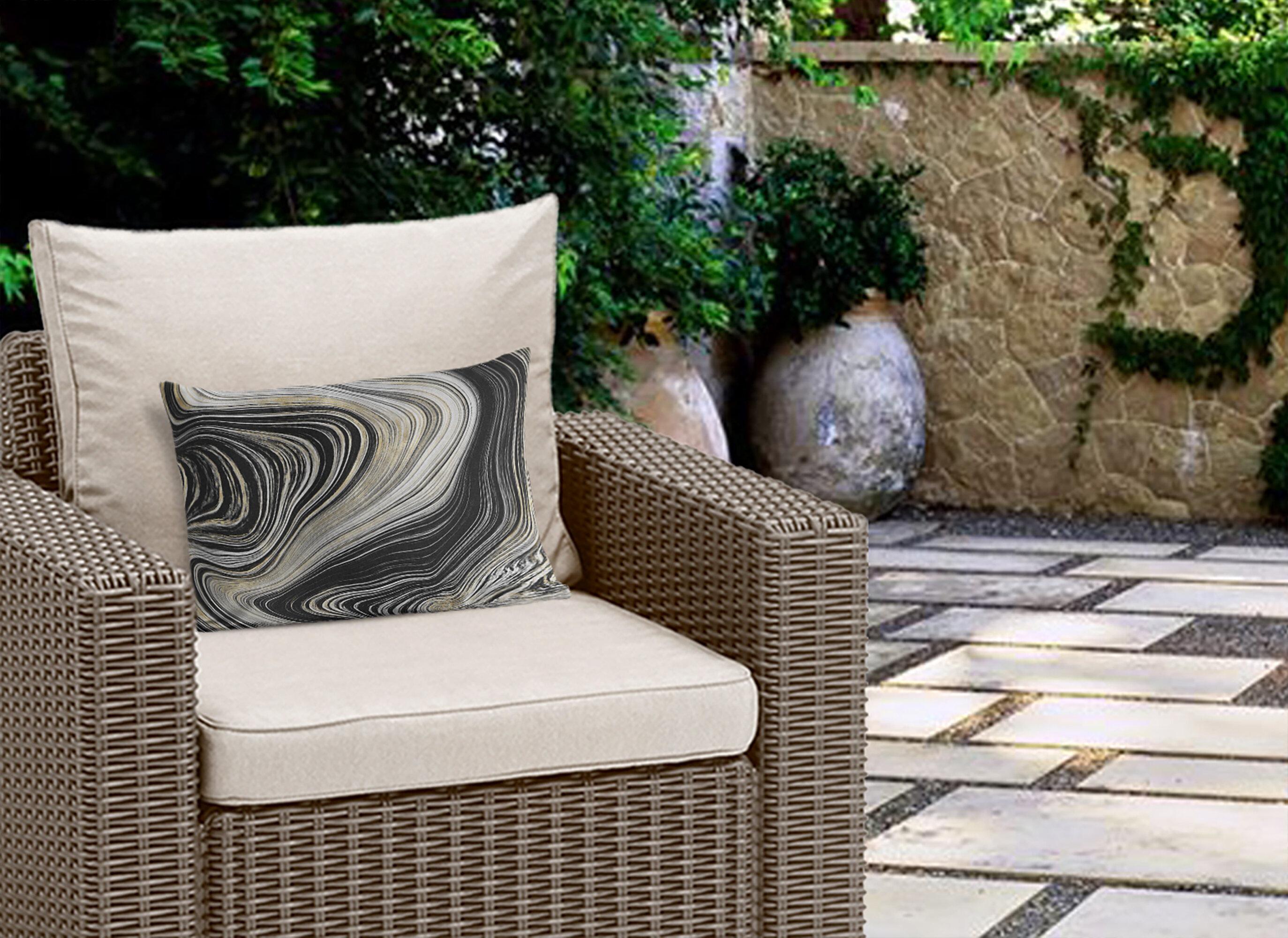 Black Posh Luxe Outdoor Pillows You Ll Love In 2021 Wayfair