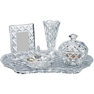 Online Reviews 5 Piece Crystal Jewelry Box Set By Godinger Silver Art Co