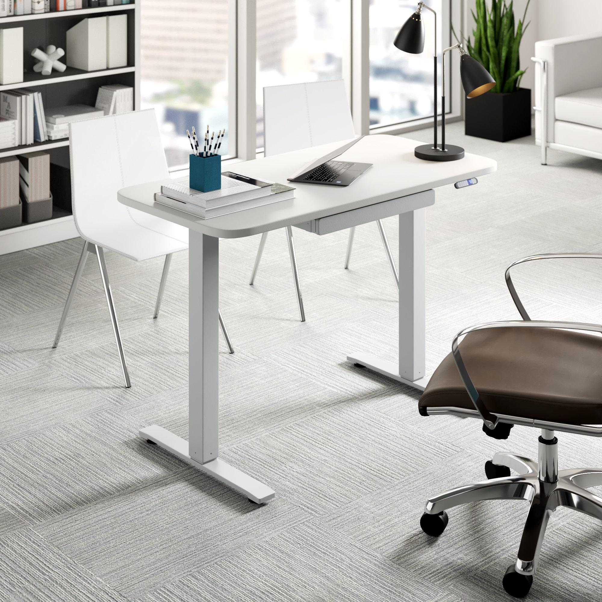 Image of: Upper Square Sabine Height Adjustable Standing Desk Reviews Wayfair
