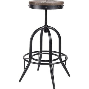 17 Stories Critchlow Adjustable Height Swivel Bar Stool