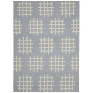 Top Reviews Mittler Grey/White Abstract Rug By Ivy Bronx
