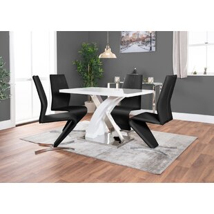 Feickert Dining Set With 4 Chairs By Metro Lane