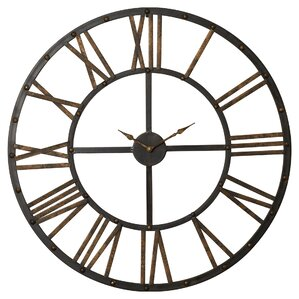 exeter round oversized wall clock