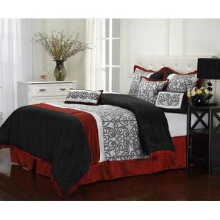 Nanshing America, Inc Aubrey 7 Piece Reversible Comforter Set