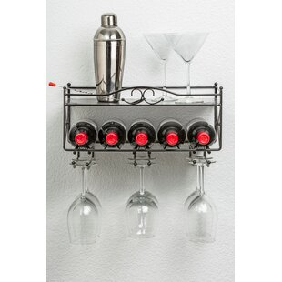 5 Bottle Wall Mounted Wine Rack by Mango Steam