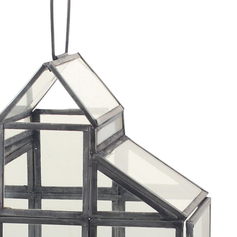 Gracie Oaks Donna Glass Terrarium Lantern Wayfair