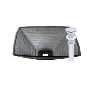 Compare prices Croccante Glass Circular Vessel Bathroom Sink By Novatto