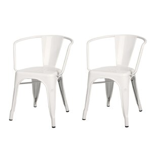 Williston Forge Halley Metal Dining Chair (Set of 2)