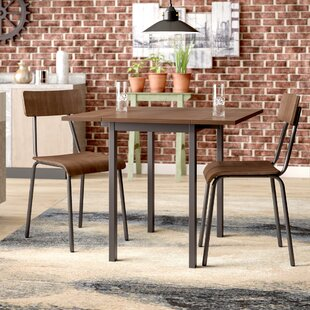 Araminta Industrial 3 Piece Dining Set by Williston Forge Wonderful