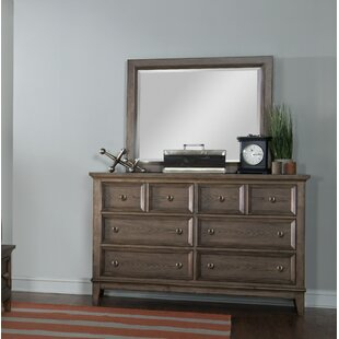 Forest Hills 8 Drawer Double Dresser with Mirror