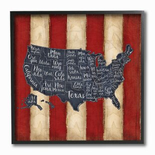 United States Map Wall Art | Wayfair