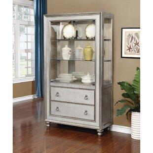 Rosdorf Park Leighty Metal Curio Cabinet