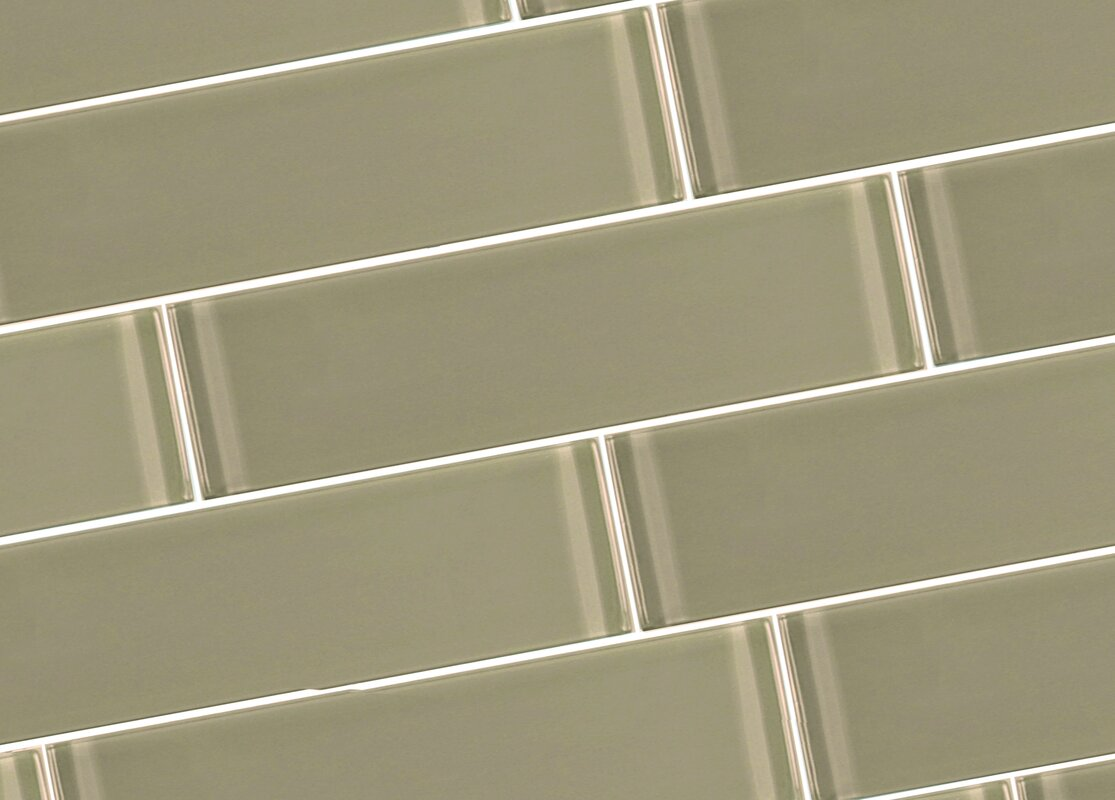 Abolos Metro 3 X 12 Glass Subway Tile In Taupe Reviews Wayfair