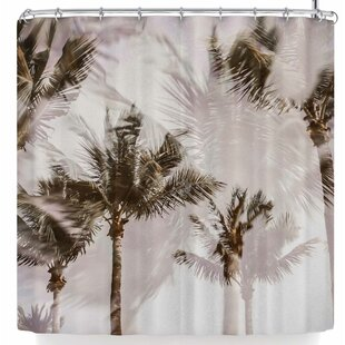 Mary Carol Fitzgerald Abstract Palms Single Shower Curtain