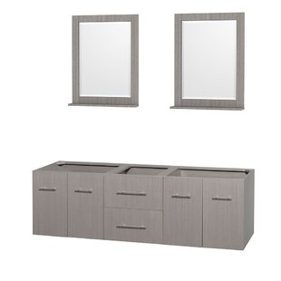 Centra 72 Double Bathroom Vanity Base by Wyndham Collection