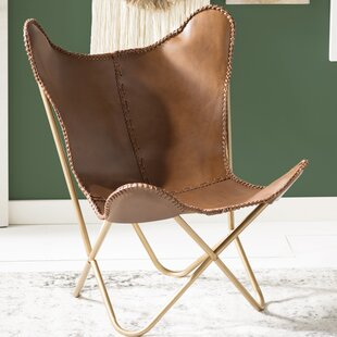 Best Choices Justa Leather Butterfly Chair by Mistana