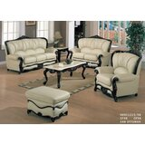 Adelyn Leather 3 Piece Living Room Set by Astoria Grand