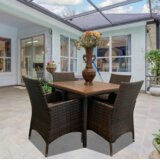 Dovray 5 Piece Dining Set with Cushions