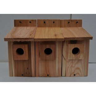 Cedarnest Nest 12 in x 6 in x 7 in Birdhouse (Set of 3)
