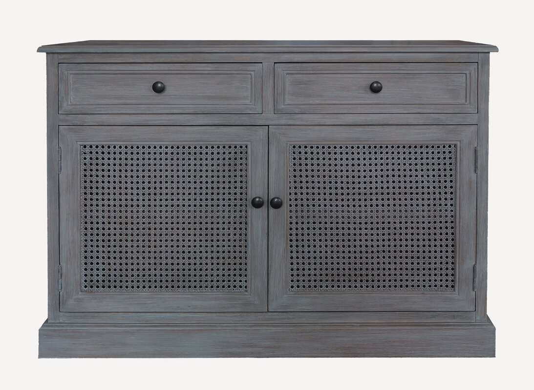 Daria 39.37 Wide 2 Drawer Wood Sideboard by Rosecliff Heights