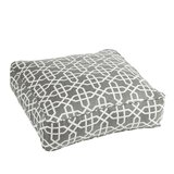Malcom Traditional Bevel Smoke Square Indoor/Outdoor Floor Pillow