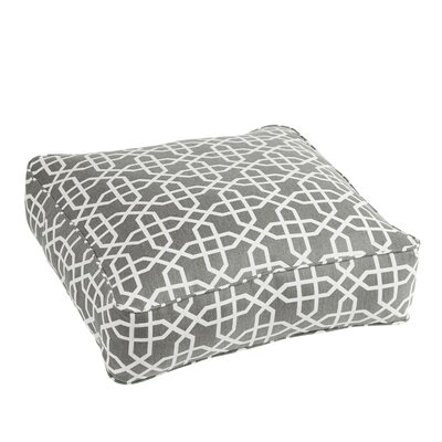 Malcom Traditional Bevel Smoke Square Indoor/Outdoor Floor Pillow by Darby Home Co Today Only Sale