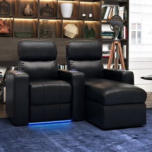 Upholstered Leather Home Theater Row of 2