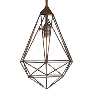 Wrought Studio Eunice 1-Light Diamond Drop Cage Pendant