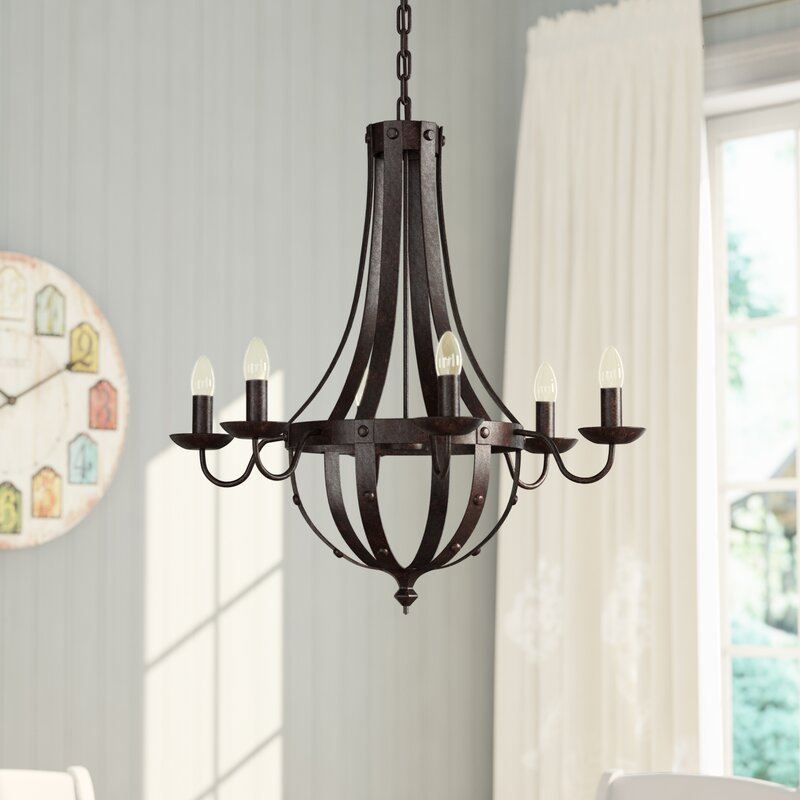 Foulds 6 Light Empire Chandelier