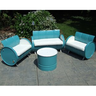 Del Ray 4 Piece Sofa Set with Cushions