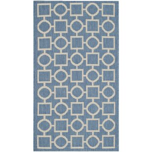 Jefferson Place Blue/Beige Indoor/Outdoor Area Rug