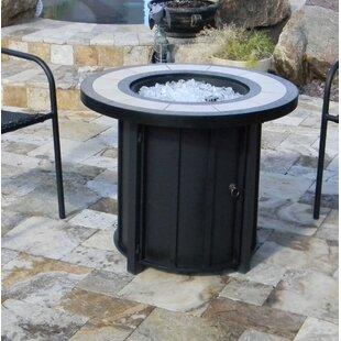 Tile Top Steel Propane Fire Pit Table By AZ Patio Heaters