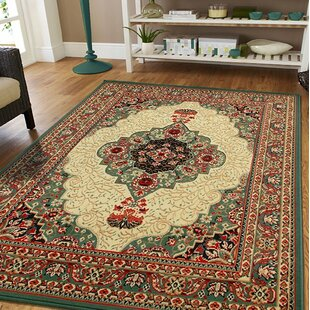 Online Purchase Premo Oriental Green/Beige Indoor/Outdoor Area Rug Best Deals