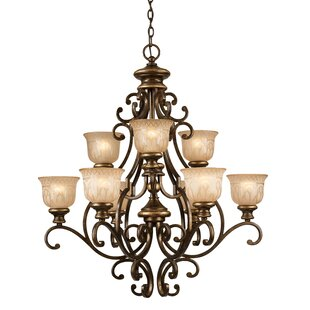 Astoria Grand Tusten 9-Light Shaded Chandelier