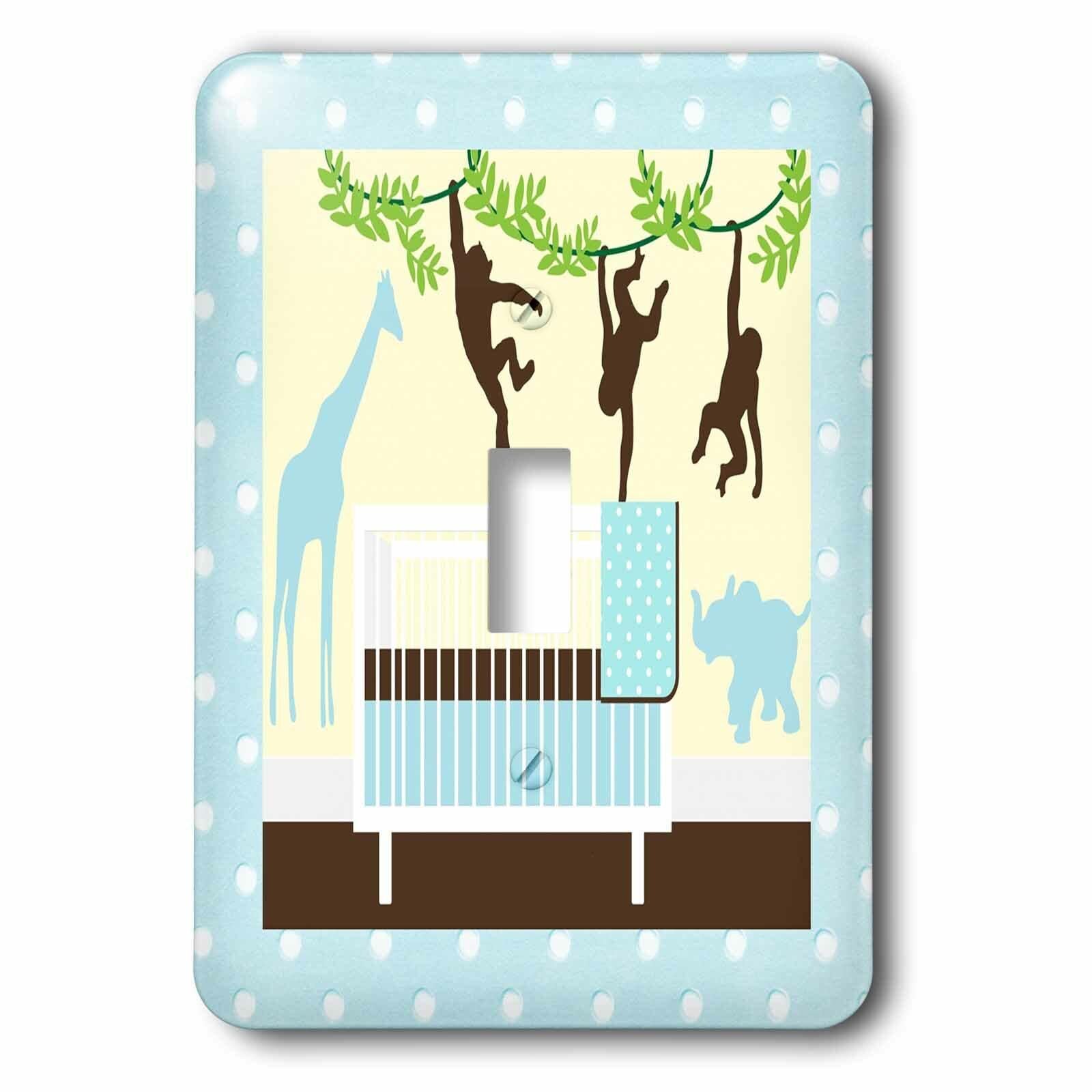 3drose Crib And Jungle Animals 1 Gang Toggle Light Switch Wall Plate Wayfair