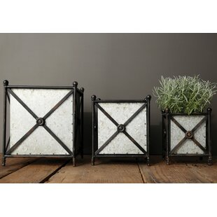Doster 3 Piece Metal Planter Box With Stand Set By Williston Forge