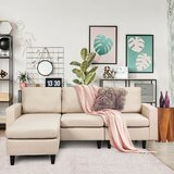 Convertible 78 Reversible Modular Sectional with Ottoman by Ebern Designs